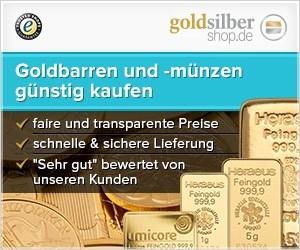 300 x 250 (Medium Rectangle) Goldbarren und -münze