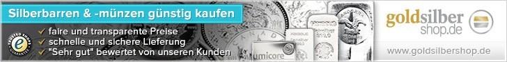 728 x 90 (Super Banner) Silberbarren & -münzen gün
