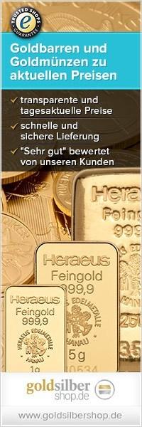 200 x 600 (Wide Skyskraper) Goldbarren & -münzen z