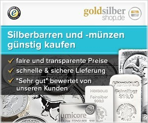 300 x 250 (Medium Rectangle) Silberbarren und -mün