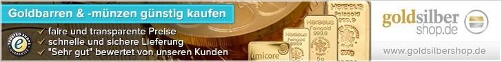 728 x 90 (Super Banner) Goldbarren & -münzen günst